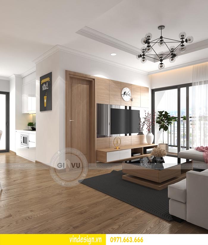thiết kế nội thất căn hộ 2 phòng ngủ tại vinhomes d capitale 03