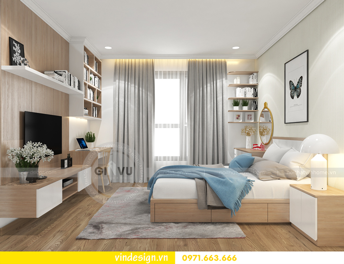 thiết kế nội thất căn hộ 2 phòng ngủ tại vinhomes d capitale 08
