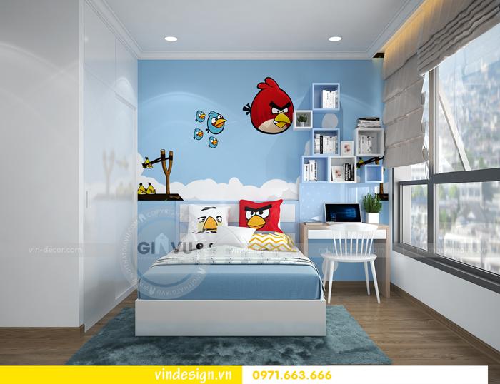 thiết kế nội thất căn hộ 2 phòng ngủ tại vinhomes d capitale 11