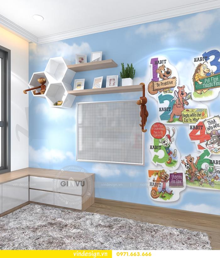 thiết kế nội thất căn hộ 2 phòng ngủ tại vinhomes d capitale 12
