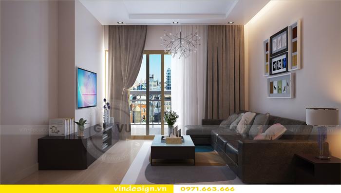 Thiết kế nội thất căn hộ 3 phòng ngủ tại vinhomes d capitale 01