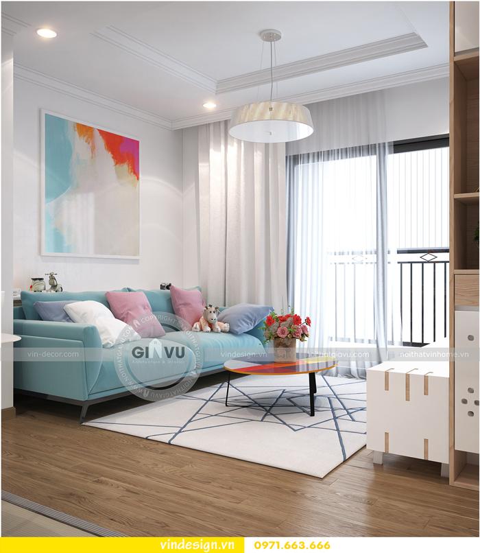 thiết kế nội thất căn hộ Gardenia tòa A1 02