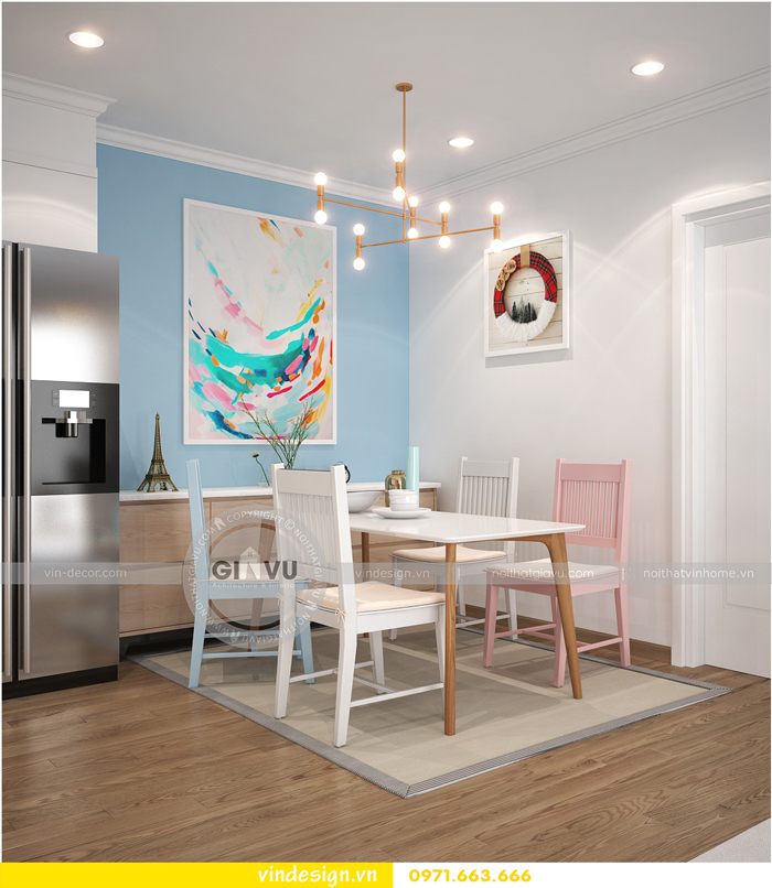 thiết kế nội thất căn hộ Gardenia tòa A1 04