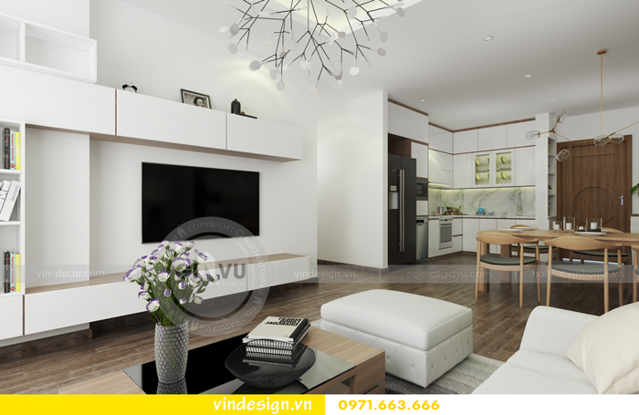 Thiết kế nội thất căn hộ d capitale tòa c1 07