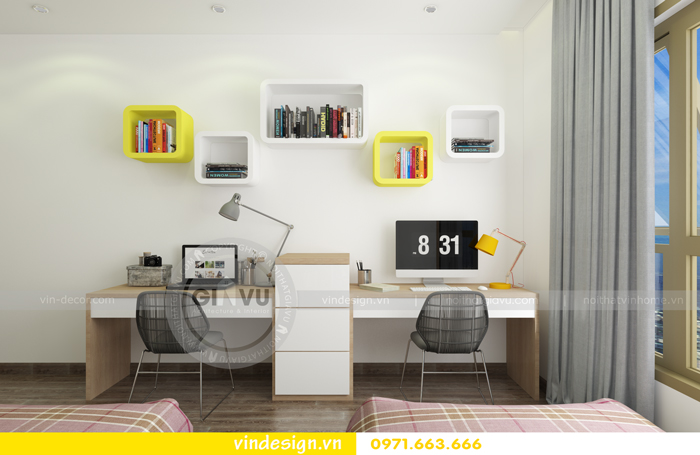 Thiết kế nội thất căn hộ d capitale tòa c1 14