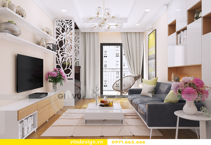 thiết kế nội thất căn hộ d capitale toa c6 vinhomes trần duy hưng 03