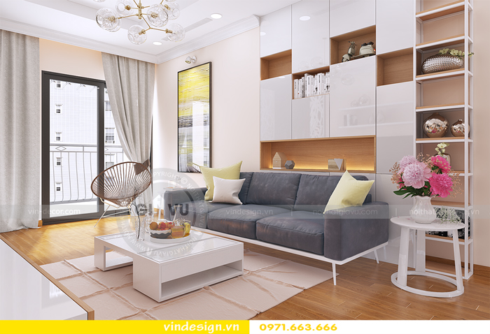 thiết kế nội thất căn hộ d capitale toa c6 vinhomes trần duy hưng 06