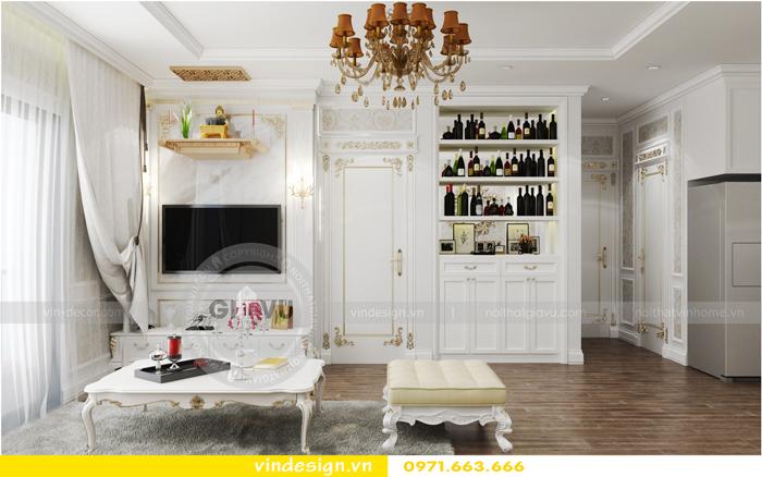 thiết kế nội thất chung cư 2 phòng ngủ đẹp vinhomes d capitale 03