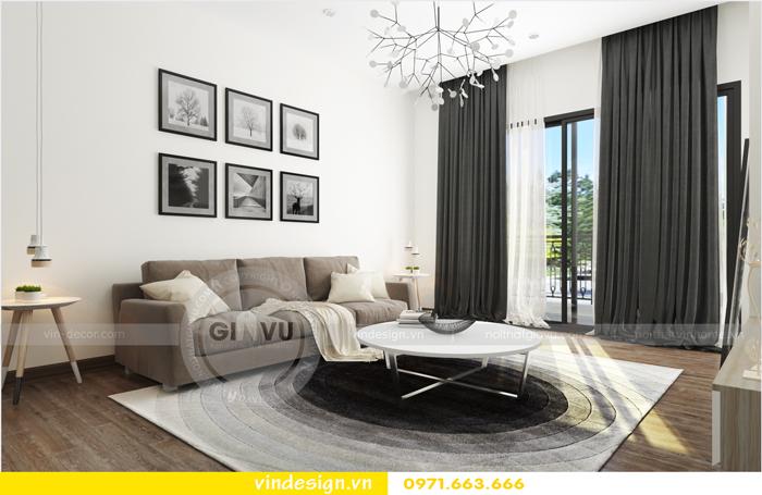 thiết kế nội thất chung cư 3 phòng ngủ đẹp tại vinhomes d capitale 01