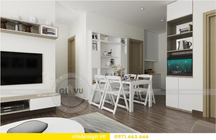 thiết kế nội thất chung cư 3 phòng ngủ đẹp tại vinhomes d capitale 03