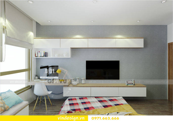 thiết kế nội thất chung cư 3 phòng ngủ đẹp tại vinhomes d capitale 11