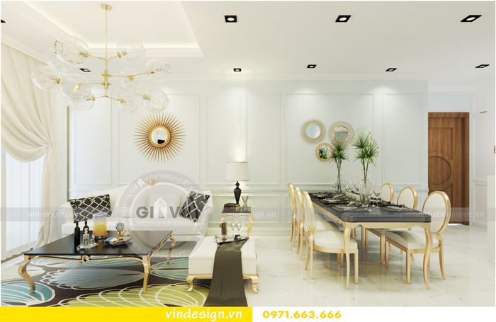 thiết kế nội thất chung cư Vinhomes Gardenia tòa A1 01