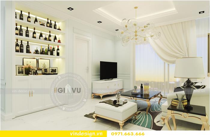 thiết kế nội thất chung cư Vinhomes Gardenia tòa A1 04