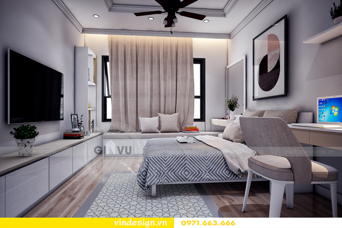 thiết kế nội thất chung cư Vinhomes Gardenia Mỹ Đình 12