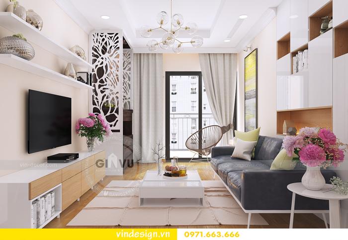 thiết kế nội thất tòa c1 căn 2 phòng ngủ dự án vinhomes d capitale 01