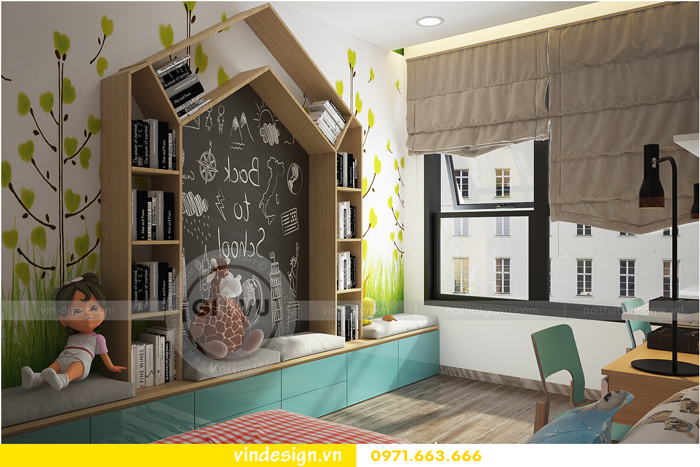 thiết kế nội thất tòa c1 căn 2 phòng ngủ dự án vinhomes d capitale 12