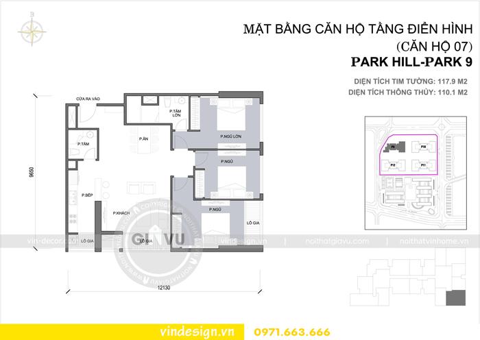 thiết kế nội thất Park 9 Times City hiện đại sang trọng 01