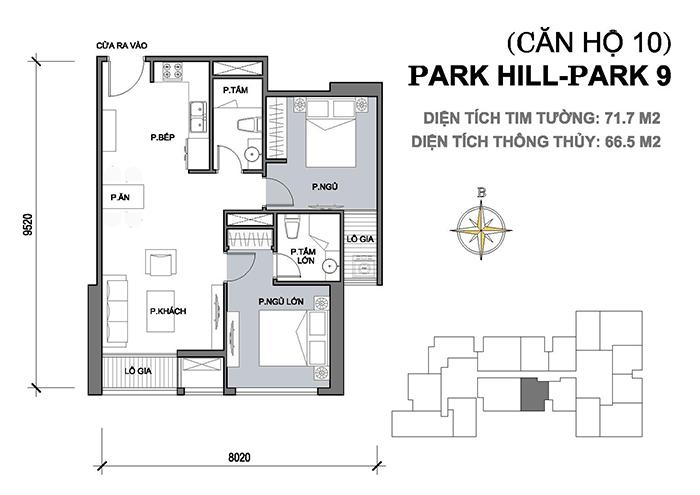 Thiết kế căn hộ Park Hill nhà chị Tuyền 01