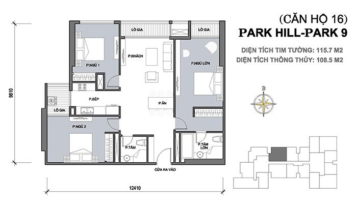Thiết kế nội thất park 9 căn 16 park hill times city