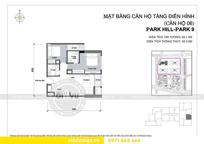Thiết kế nội thất Park Hill 9 căn 06 nhà chị Thảo 01