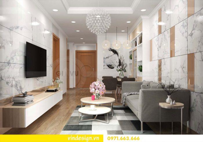 Thiết kế nội thất căn 01 tòa A1 chung cư gardenia 01