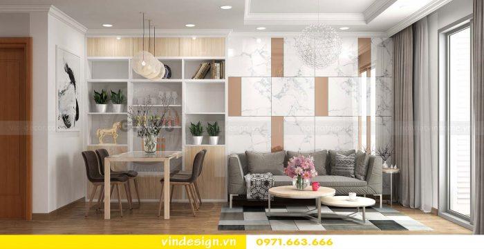 Thiết kế nội thất căn 01 tòa A1 chung cư gardenia 03