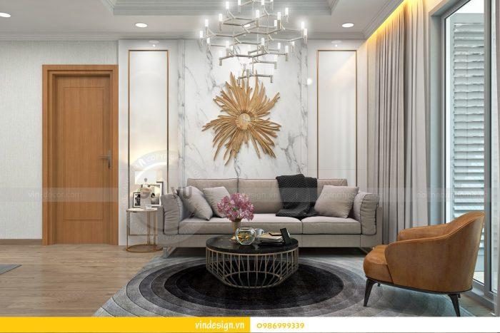 Thiết kế nội thất căn 02 tòa A1 chung cư Gardenia 3 ngủ 01