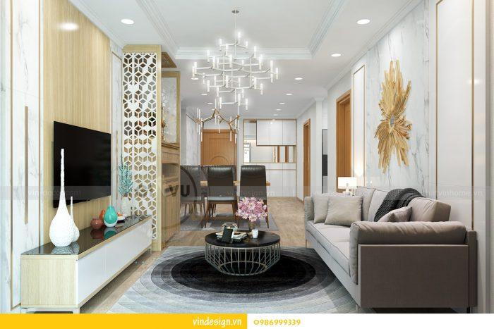 Thiết kế nội thất căn 02 tòa A1 chung cư Gardenia 3 ngủ 02
