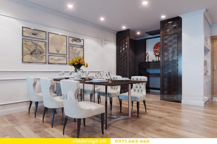 Thiết kế nội thất căn 06 tòa A2 theo phong cách tân cổ điển 01