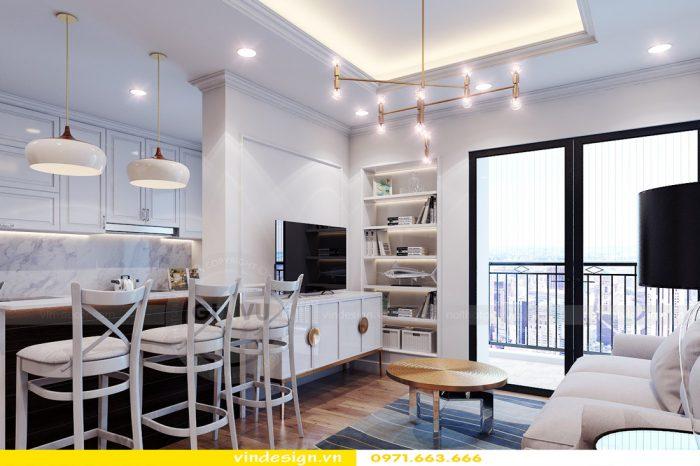 Thiết kế nội thất căn 06 tòa A2 theo phong cách tân cổ điển 04