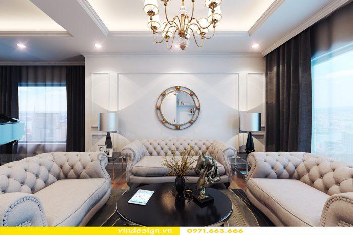 Thiết kế nội thất căn 06 tòa A2 theo phong cách tân cổ điển 05