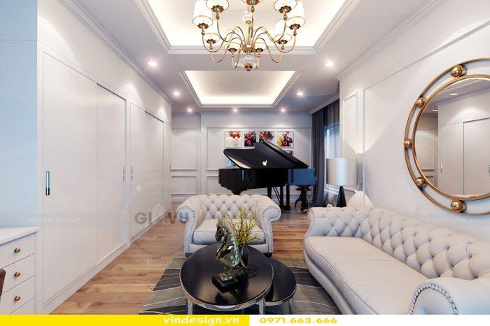 Thiết kế nội thất căn 06 tòa A2 theo phong cách tân cổ điển 06