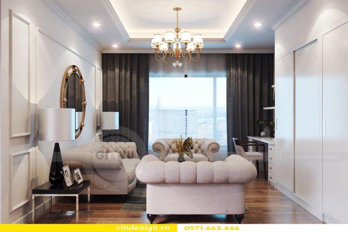 Thiết kế nội thất căn 06 tòa A2 theo phong cách tân cổ điển 07