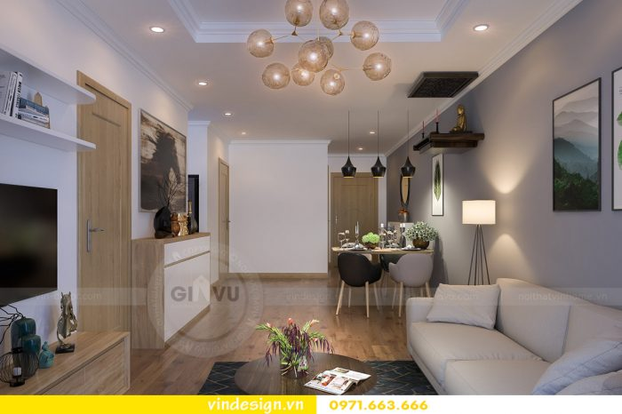 thiết kế nội thất căn 08 tòa A2 chung cư gardenia 01