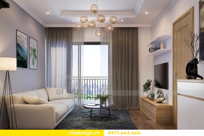 thiết kế nội thất căn 08 tòa A2 chung cư gardenia 03