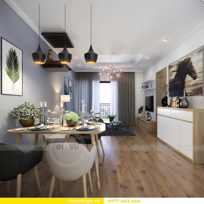 thiết kế nội thất căn 08 tòa A2 chung cư gardenia 04