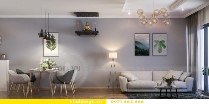 thiết kế nội thất căn 08 tòa A2 chung cư gardenia 05
