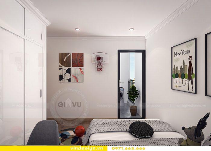 thiết kế nội thất căn 08 tòa A2 chung cư gardenia 08