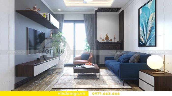 thiết kế nội thất căn 09 tòa A2 chung cư Gardenia 01