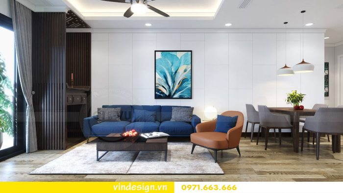 thiết kế nội thất căn 09 tòa A2 chung cư Gardenia 02