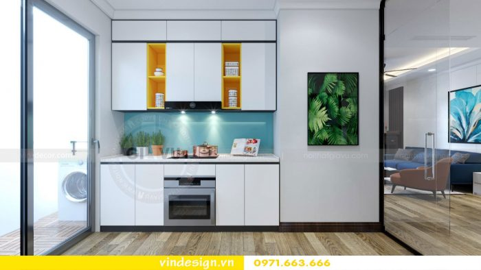 thiết kế nội thất căn 09 tòa A2 chung cư Gardenia 04