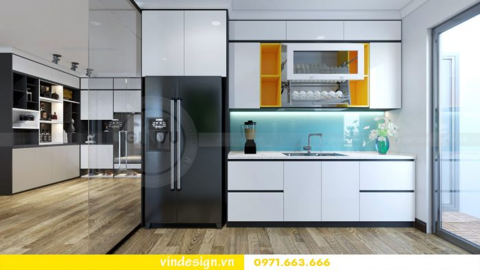 thiết kế nội thất căn 09 tòa A2 chung cư Gardenia 05
