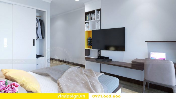 thiết kế nội thất căn 09 tòa A2 chung cư Gardenia 07