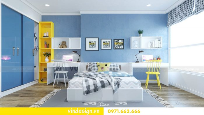 thiết kế nội thất căn 09 tòa A2 chung cư Gardenia 10