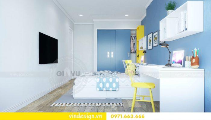 thiết kế nội thất căn 09 tòa A2 chung cư Gardenia 11