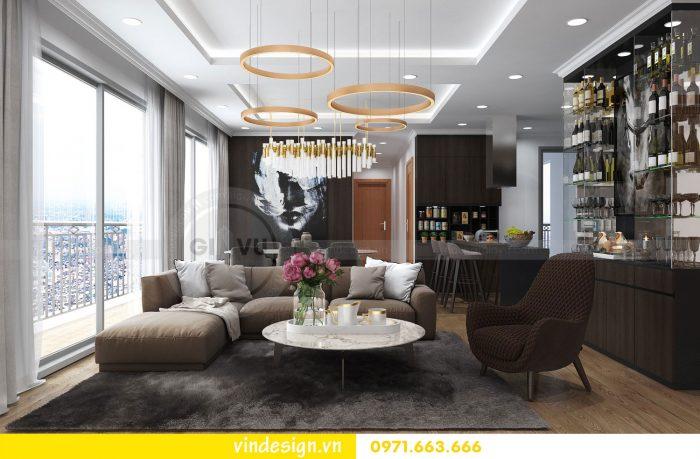 Thiết kế nội thất căn 10 tòa A2 chung cư gardenia 01