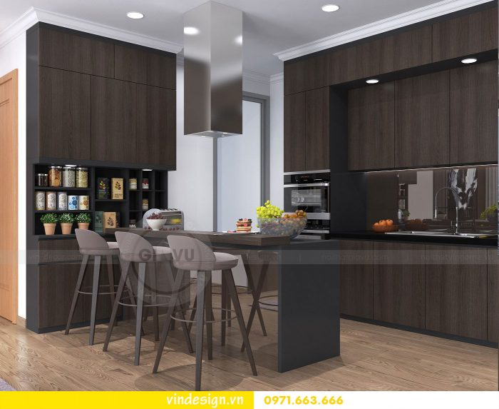 Thiết kế nội thất căn 10 tòa A2 chung cư gardenia 05