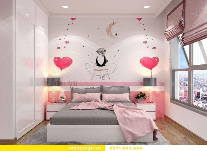 Thiết kế nội thất căn 10 tòa A2 chung cư gardenia 18