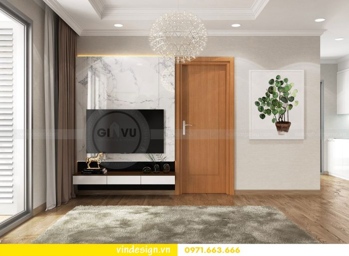 Thiết kế nội thất căn 12B tòa A2 chung cư Gardenia 03