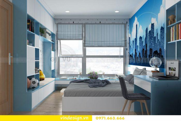 Thiết kế nội thất căn 12B tòa A2 chung cư Gardenia 14